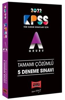 Yargı Yayınları 2022 KPSS A Grubu Tamamı Çözümlü 5 Deneme Sınavı