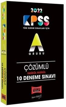 Yargı Yayınları 2022 KPSS A Grubu Fasikül Fasikül Çözümlü 10 Deneme Sınavı
