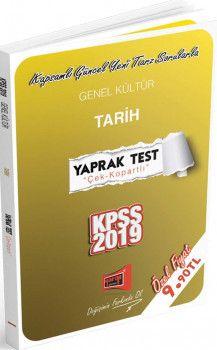 Yargı Yayınları 2019 KPSS Genel Kültür Tarih Yaprak Test