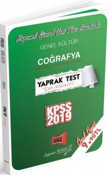 Yargı Yayınları 2019 KPSS Genel Kültür Coğrafya Yaprak Test
