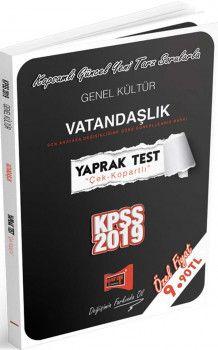 Yargı Yayınları 2019 KPSS Genel Kültür Vatandaşlık Yaprak Test