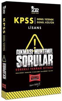Yargı Yayınları 2022 KPSS Genel Yetenek Genel Kültür Çıkması Muhtemel Sorular Sürekli Tekrar Kitabı