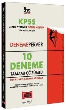 Yargı Yayınları 2022 KPSS GY GK DenemePerver Tüm Adaylar İçin Tamamı Çözümlü 10 Deneme