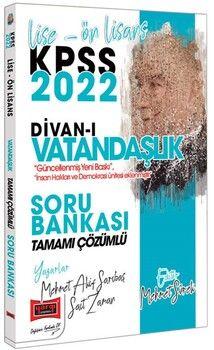 Yargı Yayınları 2022 KPSS Lise Ön Lisans Divanı Vatandaşlık Tamamı Çözümlü Soru Bankası