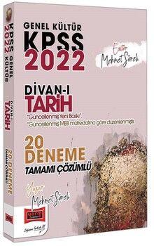 Yargı Yayınları 2022 KPSS Genel Kültür Divanı Tarih Tamamı Çözümlü 20 Deneme