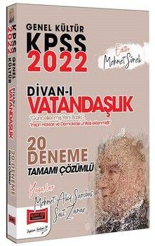 Yargı Yayınları 2022 KPSS Genel Kültür Divanı Vatandaşlık Tamamı Çözümlü 20 Deneme