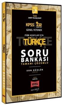 Yargı Yayınları 2022 KPSS GY GK Son Düzlük Türkçe Tamamı Çözümlü Soru Bankası