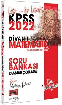 Yargı Yayınları2022 KPSS Lise Ön Lisans Divan-ı Matematik Tamamı Çözümlü Soru Bankası