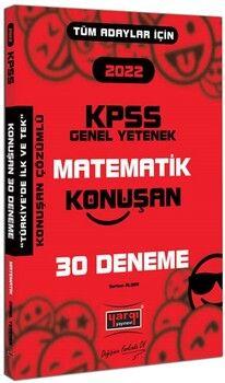 Yargı Yayınları 2022 KPSS Tüm Adaylar İçin Genel Yetenek Matematik Konuşan 30 Deneme