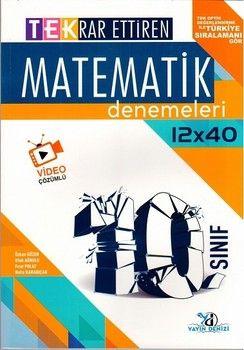 Yayın Denizi 10. Sınıf Matematik TEK 12 x 40 Deneme