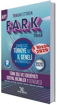 Yayın Denizi AYT Türk Dili ve Edebiyatı Sosyal Bilimler 1 Fark Tekrar Ettiren 10 x 40 Denemesi