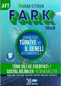 Yayın Denizi AYT Türk Dili ve Edebiyatı Sosyal Bilimler 1 Fark 10 x 40 Tekrar Ettiren Denemeleri