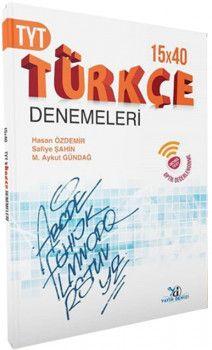 Yayın Denizi YKS 1. Oturum TYT Türkçe 15 x 40 Denemeleri