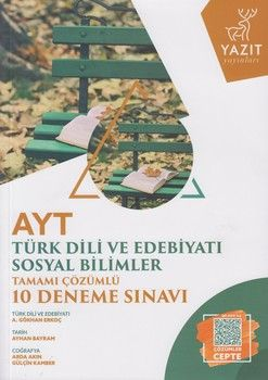 Yazıt Yayınları AYT Türk Dili ve Edebiyatı Sosyal Bilimler Tamamı Çözümlü 10 Deneme Sınavı
