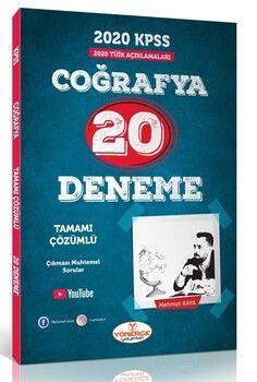 Yönerge Yayınları 2020 KPSS Genel Kültür Coğrafya 20 Tamamı Çözümlü Deneme