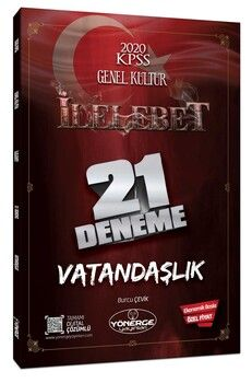 Yönerge Yayınları 2020 KPSS Genel Kültür Vatandaşlık İlelebet 21 Deneme