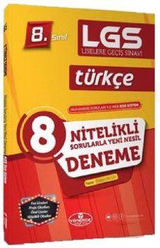 Yönerge Yayınları 8. Sınıf LGS Türkçe Nitelikli Sorularla Yeni Nesil 8 Deneme