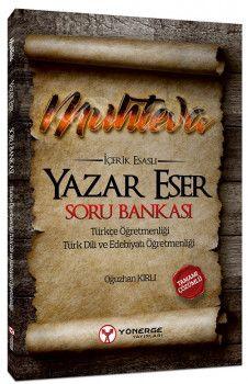 Yönerge Yayınları Muhteva İçerik Esaslı Yazar Eser Tamamı Çözümlü Soru Bankası