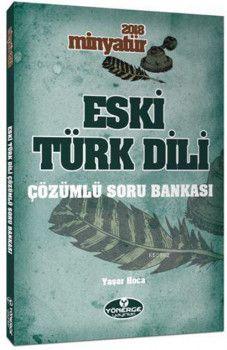 Yönerge Yayınları 2018 Minyatür Eski Türk Dili Çözümlü Soru Bankası