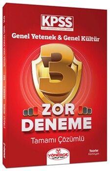 Yönerge Yayınları KPSS Genel Yetenek Genel Kültür Zor 3 Deneme Çözümlü