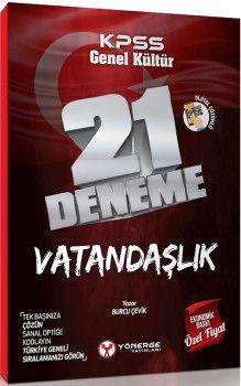 Yönerge Yayınları KPSS Genel Kültür Vatandaşlık 21 Deneme