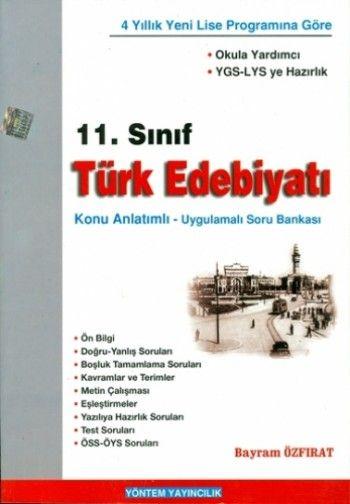 Yöntem Yayınları 11. Sınıf Türk Edebiyatı Konu Uygulamnalı Soru Bankası