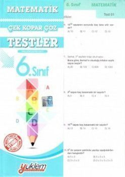 Yüklem Yayınları 6. Sınıf Matematik Çek Kopar Çöz Testler