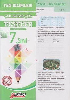 Yüklem Yayınları 7. Sınıf Fen Bilimleri Çek Kopar Çöz Testler