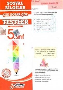 Yüklem Yayınları 5. Sınıf Sosyal Bilgiler Çek Kopar Çöz Testler