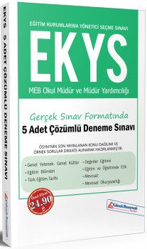 Yüksek Basamak Yayınları EKYS MEB Okul Müdür ve Müdür Yardımcılığı 5li Deneme Sınavı