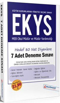 Yüksek Basamak Yayınları EKYS MEB Okul Müdür ve Müdür Yardımcılığı 7li Deneme Sınavı