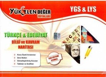 Yükselen Değer YGS LYS Türkçe Edebiyat Bilgi ve Kavram Haritası