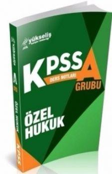 Yükseliş Kariyer Yayınları KPSS A Özel Hukuk Ders Notları