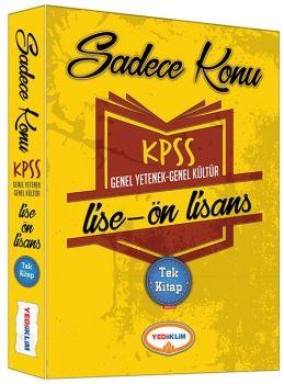KPSS Lise Ön Lisans Tek Kitap Genel Kültür Genel Yetenek Sadece Konu