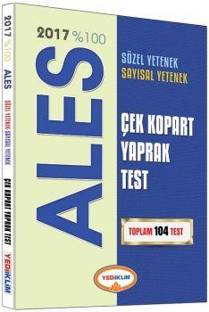Yediiklim 2017 % 100 ALES Sözel Yetenek Sayısal Yetenek Çek Kopart Yaprak Test