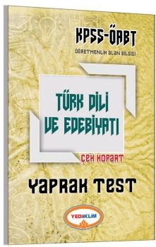 Yediiklim 2017 ÖABT Türk Dili ve Edebiyatı Öğretmenliği Çek Kopart Yaprak Test
