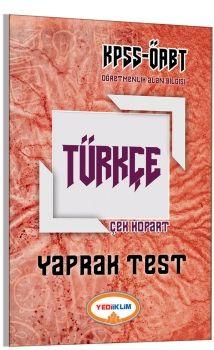 Yediiklim 2017 ÖABT Türkçe Öğretmenliği Çek Kopart Yaprak Test