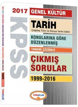 Yediiklim 2017 KPSS Genel Kültür Tarih Konularına Göre Düzenlenmiş Tamamı Çözümlü 1999 2016 Çıkmış Sorular
