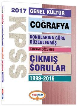 Yediiklim 2017 KPSS Genel Kültür Coğrafya Konularına Göre Düzenlenmiş Tamamı Çözümlü 1999 2016 Çıkmış Sorular