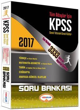 Yediiklim 2017 KPSS Genel Yetenek Genel Kültür Tüm Adaylar için Soru Bankası Tam Yerinde 3333 Soru