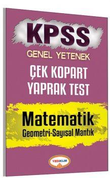 Yediiklim 2017 KPSS Genel Yetenek Matematik Çek Kopart Yaprak Test
