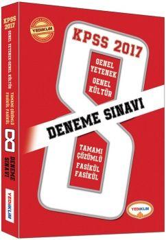 Yediiklim 2017 KPSS Genel Yetenek Genel Kültür Tamamı Çözümlü Fasikül 8 Deneme Sınavı