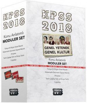 Yediiklim 2018 KPSS Genel Kültür Genel Yetenek Konu Anlatımlı Modüler Set