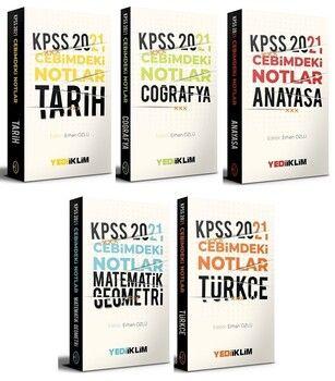 Yediiklim 2021 KPSS Genel Yetenek Genel Kültür Cebimdeki Notlar Cep Kitabı 5 li Set