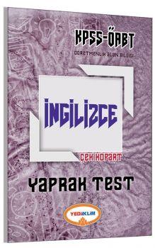 Yediiklim ÖABT İngilizce Çek Kopart Yaprak Test
