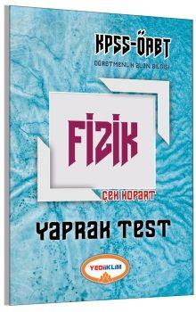 Yediiklim ÖABT Fizik Öğretmenliği Çek Kopart Yaprak Test