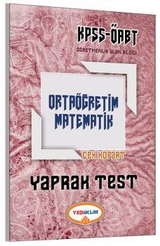 Yediiklim ÖABT Ortaöğretim Matematik Çek Kopart Yaprak Test