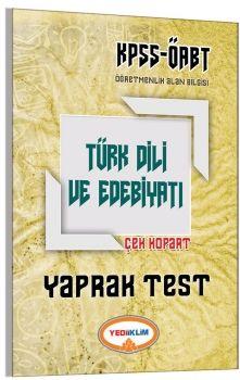 Yediiklim ÖABT Türk Dili ve Edebiyatı Öğretmenliği Çek Kopart Yaprak Test