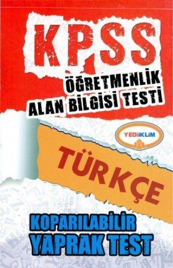 Yediiklim ÖABT Türkçe Koparılabilir Yaprak Test
