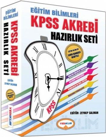 Yediiklim Eğitim Bilimleri KPSS Akrebi Hazırlık Seti 6 Fasikül + 1 Kitap